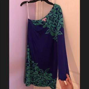 Lilly Pulitzer One Sleeve Soft Dress